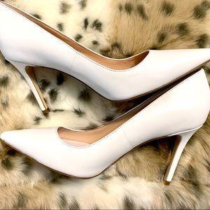 Kate Spade White Matte Vivian Pump Heel